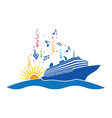 Party Cruise logo vector image