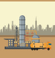 petroleum industry concept vector image vector image