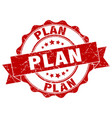 plan stamp sign seal vector image vector image