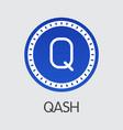 qash - virtual currency icon vector image