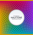 rainbow gradient background with halftone texture vector image vector image