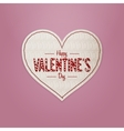 Realistic Valentines Day greeting Heart Card vector image