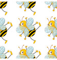 seamless pattern tile cartoon with bees