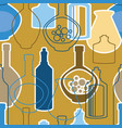 seamless pattern with bottles and kettles vector image vector image