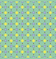 seamless pattern with delicate spring flowers vector image