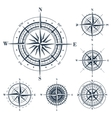 Set of compass roses isolated on white vector image vector image