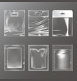 set of of transparent plastic vector image vector image