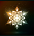 shining gold snowflake vector image vector image