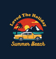summer car design with colorful beach elements vector image vector image