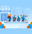 team managers left for business meeting office vector image vector image
