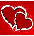 torn paper with heart vector image vector image