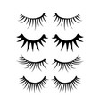 two eyes eyelash extensions set vector image vector image