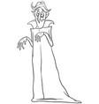 vampire halloween character cartoon coloring book vector image vector image