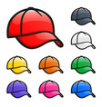 various colors cap hat vector image