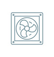 vent linear icon concept vent line sign vector image vector image
