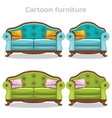 vintage baroque sofa and armchair set vector image vector image