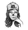 vintage dead girl concept vector image