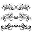 vintage dividers floral decorative ornaments vector image vector image