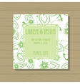 Wedding invitation on wooden background vector image vector image