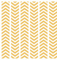yellow white broken chevron seamless vector image