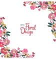 Floral corner with flowers berries and butterfly vector image