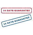 14 Days Guarantee Rubber Stamps vector image vector image