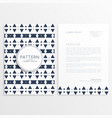 abstract aztec style letterhead template vector image vector image