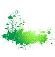 abstract painted grunge stains background vector image vector image