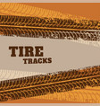 abstract tire track marks background vector image vector image