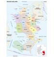 administrative map region sjaeland denmark vector image vector image