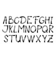 alphabet letters collection text black lettering vector image vector image