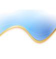 Blue transparent background gold border vector image