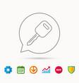 car key icon transportat lock sign vector image