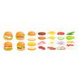 cartoon fastfood hamburger maker collection with vector image vector image