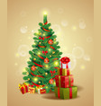 christmas festive backgroung vector image