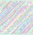 colorful diagonal seamless pattern vector image