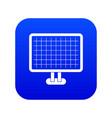 computer monitor icon digital blue vector image