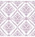 damask floral seamless pattern vintage vector image
