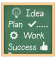 Diagram of Success vector image vector image