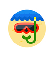 Diving Mask icon Summer Vacation vector image vector image