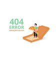 Error page with a pizza vector image vector image