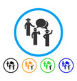 gentlemen discussion rounded icon vector image vector image