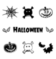 Halloween icons logo symbols and graphic element vector image vector image