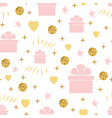 holiday background seamless birthday pattern with vector image vector image