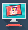 internet user equipment computer tablet phone vector image vector image