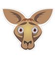 kangaroo mask vector image