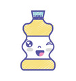 kawaii cute funny beverage bottle vector image