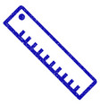 length ruler icon grunge watermark vector image vector image