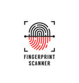 linear fingerprint scanner simple icon vector image