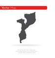 map mozambique isolated vector image